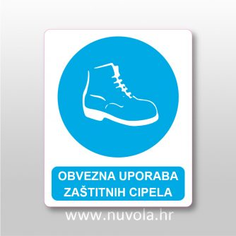 Obvezna uporaba zaštitnih cipela