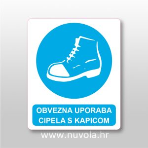 Obvezna uporaba cipela s kapicom