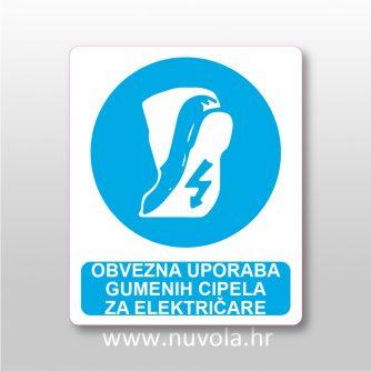 Obvezna uporaba gumenih cipela za električare