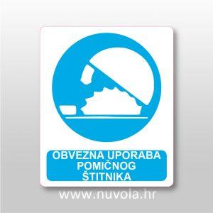 Obvezna uporaba pomičnog štitnika