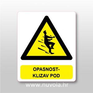 Opasnost – klizav pod