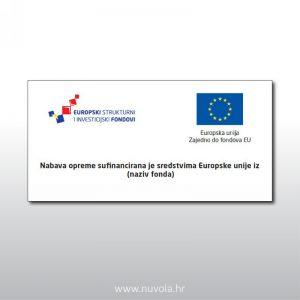 Naljepnica Nabava opreme sufinancirana je sredstvima Europske unije