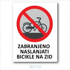 Tabla ploča Zabranjeno naslanjati bicikle na zid