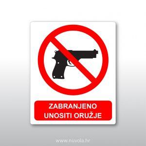 Zabranjen unositi oružje
