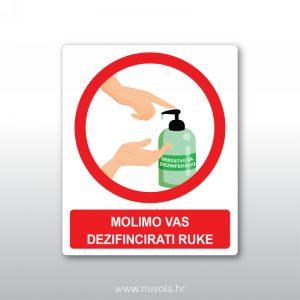 Molimo dezinficirati ruke