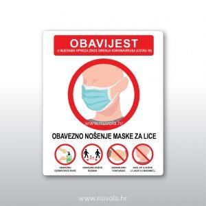 Obavijest o mjerama opreza zbog širenja koronavirusa 2