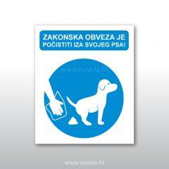 Tabla ploča Obvezno počistiti za svojim psom