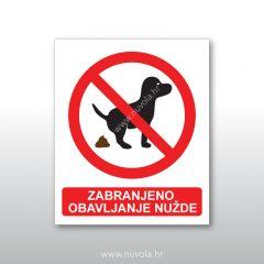 Tabla ploča Zabranjeno obavljanje nužde