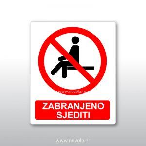 Zabranjeno sjediti