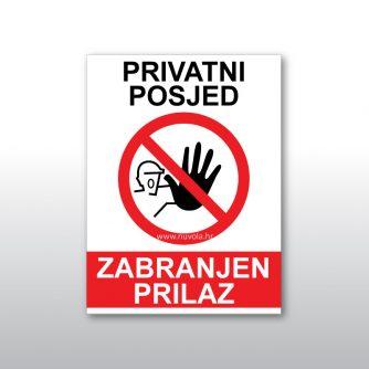 Zabranjen prilazi privatni posjed znak