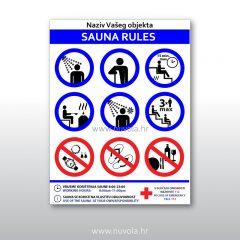 pravila ponašanja u sauni