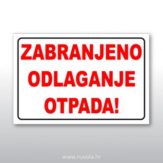 znak zabranjeno odlaganje otpada