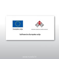 Naljepnica Sufinancira Europska unija – HZZ